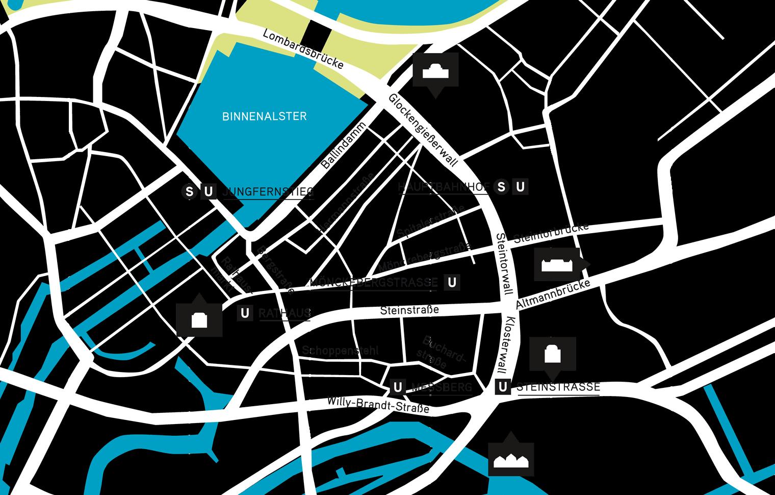 Hamburg Hauptbahnhof Karte.Kunstmeile Hamburg 1 Ticket 5 Museums